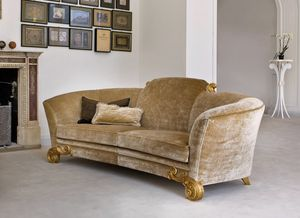 Stresa ST130, Three-seat sofa, covered in fabric