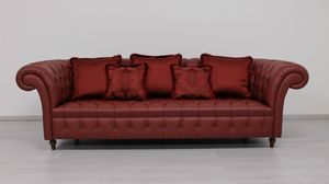 Swing sofa, Sofa in English Chesterfield style
