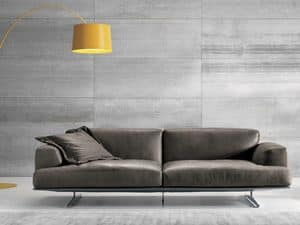ALBACHIARA 1, 3 seater sofa covered in leather