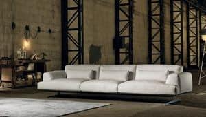ALBACHIARA 2, 4 seater sofa covered in leather
