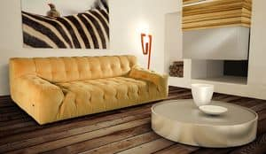 Alison, 2 seater sofa with pleated backrest and seat