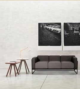 ART. 0062 0063 0064 KIRK, Elegant collection of two-seat and three-seat sofas