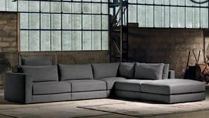 BLOW, Corner sofa with chaise longue