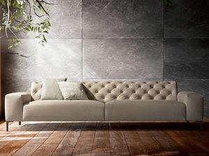 Boston fixed, Comfortable sofa, with a refined design