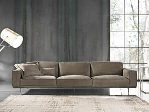BRERA 2, 4-seater sofa, upholstered in foam and goose feather