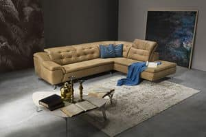 Cloud corner, Corner sofa with elastic straps and polyester coated