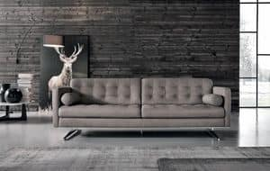 Sofa with chaise longue reclining backrest idfdesign for Chaise longue torino