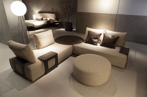 Kronos sofa, Sofa with adjustable backrests and table elements