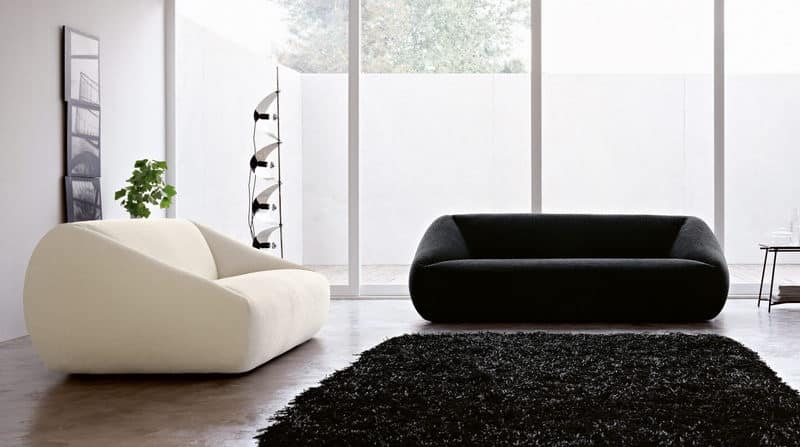 Design Sofa Years 60 70 Style Soft And Enveloping