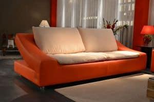 Marathon, Sofa with original shape, handmade, made of genuine leather
