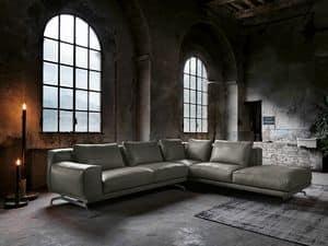 NANDO 4, Modular sofa in leather