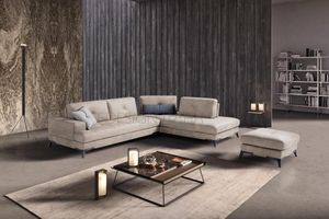 Quadro, Upholstered sofa with memory foam