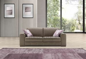 Rebus, 2-seater leather sofa