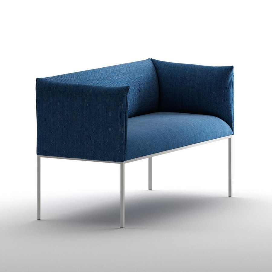 Small Sofa Padded With Steel Structure For Contract Use