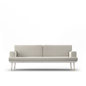 Sofa Coco, Two-seater sofa with oak structure