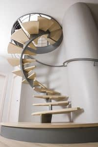 BC.01, Spiral staircase, treads with led lights bars
