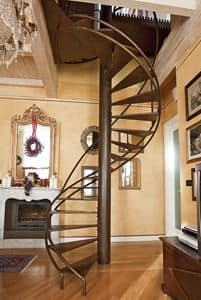 BC.05, Spiral staircase with sound-absorbing treads