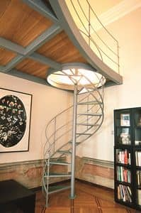 BC.07, Iron spiral staircase with wooden loft
