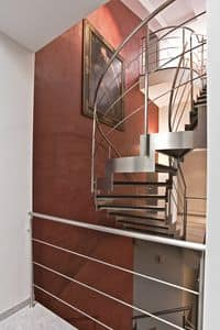 BG.07, Stainless steel staircase with slate treads