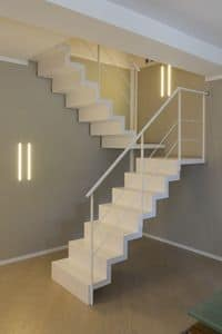 BG.12, Staircase with resin steel and glass balustrade