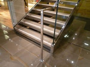 Picture of Stair Honed and Polished, floor with geometric pattern