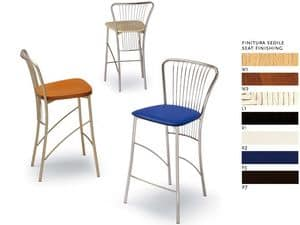 504, Counter Stool, in steel, various seats, for pubs
