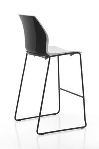 Kalea stool sled, Polypropylene stool with sled base