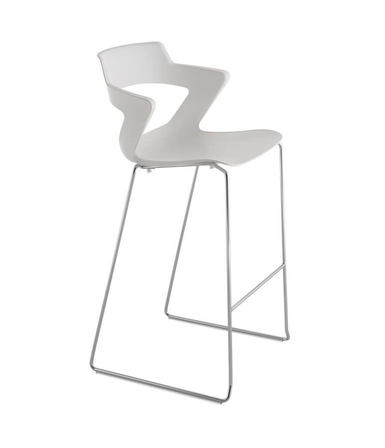 Polypropylene Stool With Sled Base Idfdesign