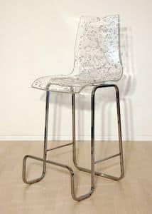 Picture of Arte barstool leaf, metal base barstool