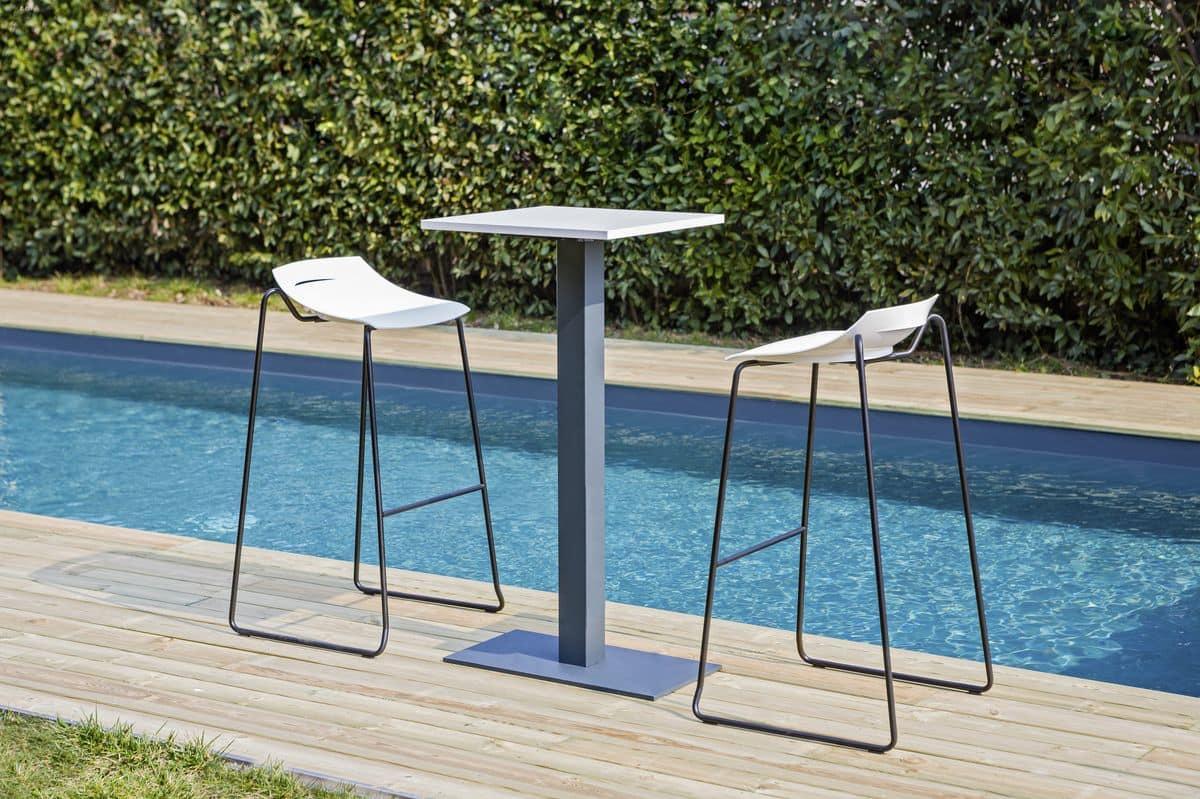 Ben 331D, Modern stool with metal base
