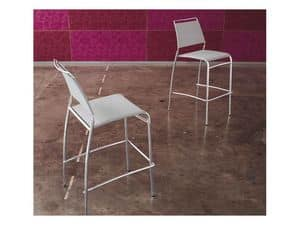 Bingo SG, Modern stackable barstools with tapered tube
