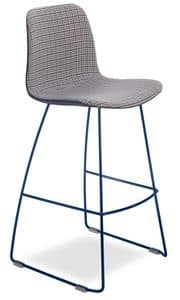 Dama UP SGF, Metal barstool, shell in coated fabric
