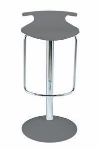 Fix Tom Joy, Swivel barstool with footrest, chromed column