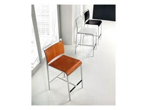 Picture of Mojito stool wood seat, modern barstool