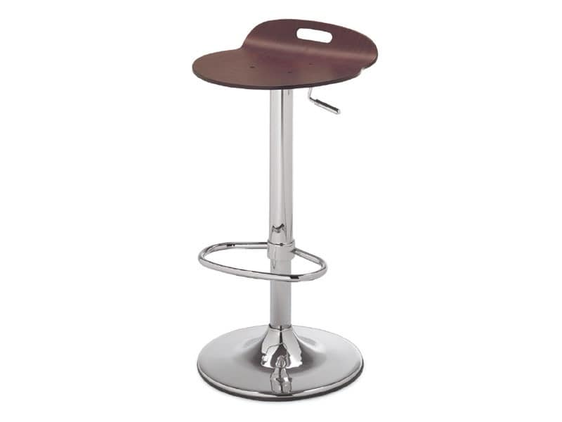 SG 339, Metal stool with wooden seat, for Kitchen