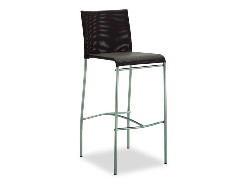 SG 362, Stool with brushed metal base, for Kitchen