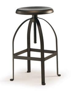 SG 504, Adjustable stool, with swivel lift, for bars