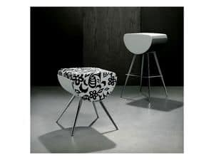 Picture of BOMBOLO/H, metal design barstool