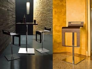 Picture of kayak, metal design barstools