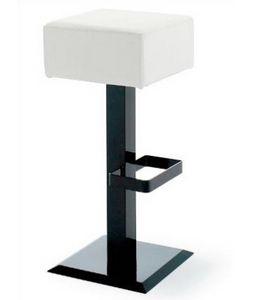 CG 89724 SG, Metal stool with black square base