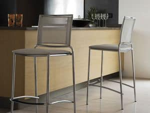 Fly H75/H65, Modern stackable barstool with mesh back