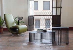 ANDRA, Round coffee tables for living rooms, made of metal