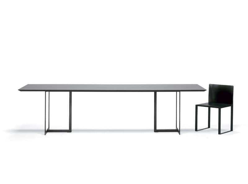 table with minimal design metal and glass for living