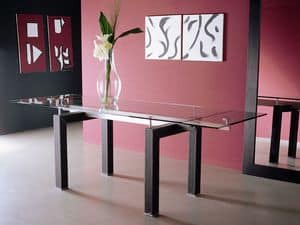 Picture of s12 isidoro, extendable glass top tables