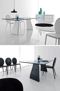 Picture of Trend 490 491, linear table with glass top