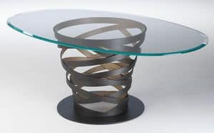 Picture of Twist Gold Table, suitable for modern kitchen