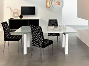 Picture of ART. 212/A LEATHER (EXTENDABLE) , table with extension