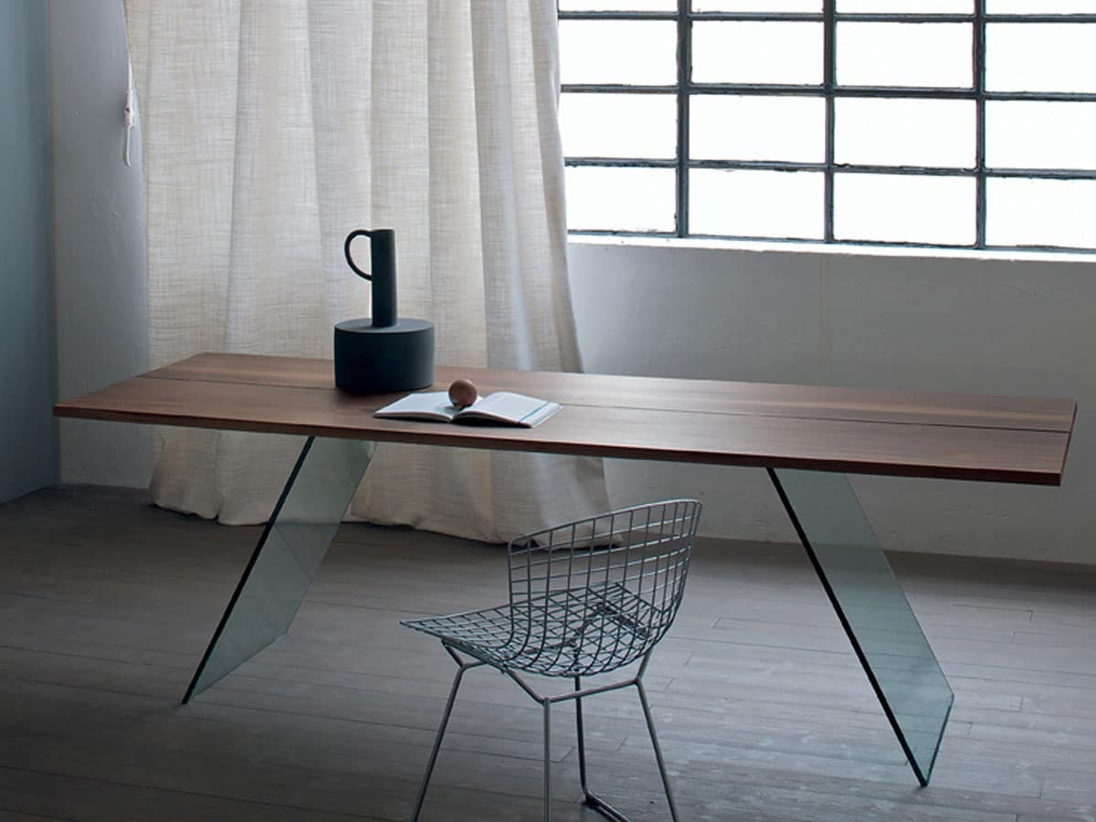 Table with glass base living room table with minimal for Minimal table design