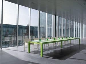 Picture of Abaco meeting table 200.AMB600, table with metal frame