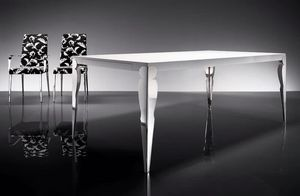 ART. 257/F HOLLYWOOD TABLE, Modern dining table, for living room